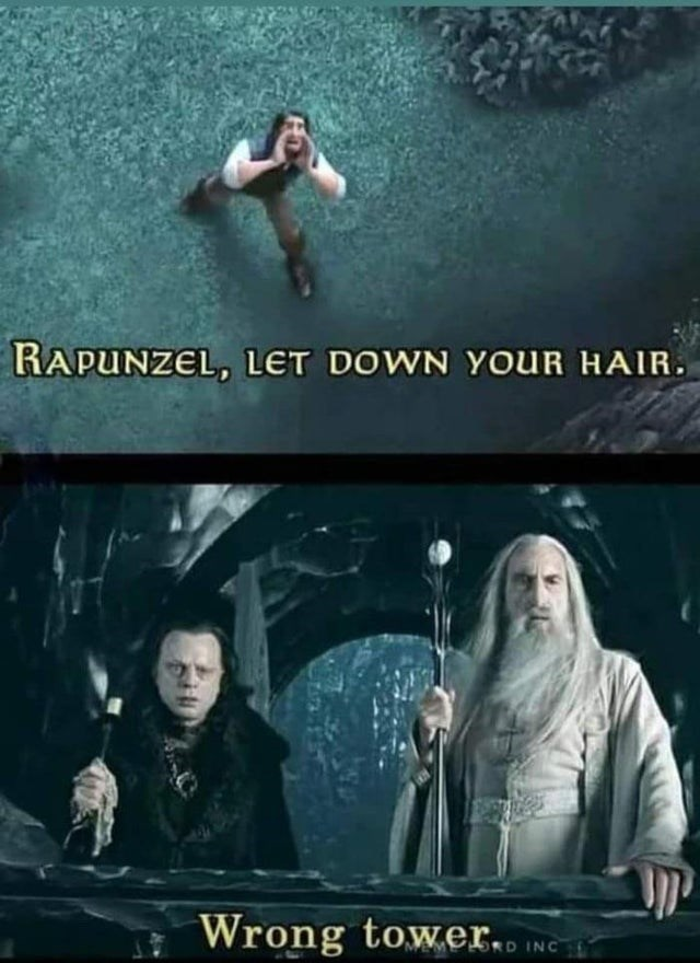 Photograph - RAPUNZEL, LET DOWN YOUR HAIR. Wrong tower.. ING