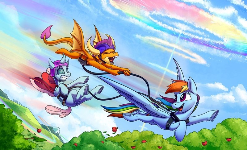 dragon smolder ocellus tsitra360 changelings rainbow dash - 9606524416