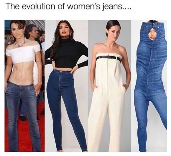 Outerwear - The evolution of women's jeans....