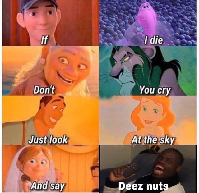 Funny memes, deez nuts, movie characters