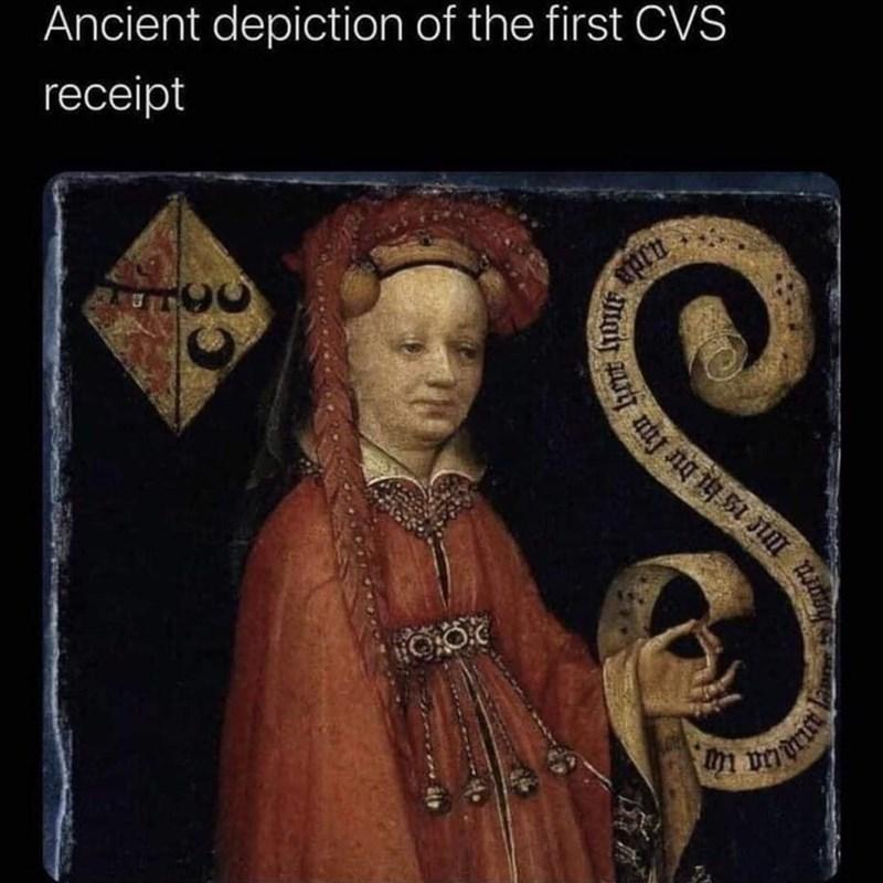Art - Ancient depiction of the first CVS receipt