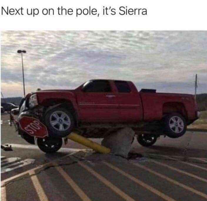 Tire - Next up on the pole, it's Sierra STOP