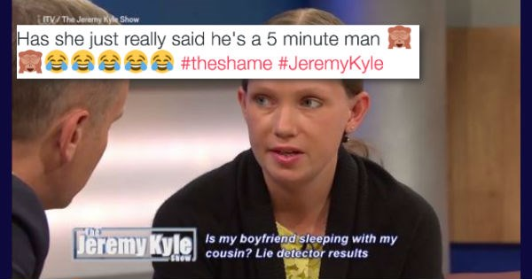 jeremy kyle sex twitter list embarrassing UK