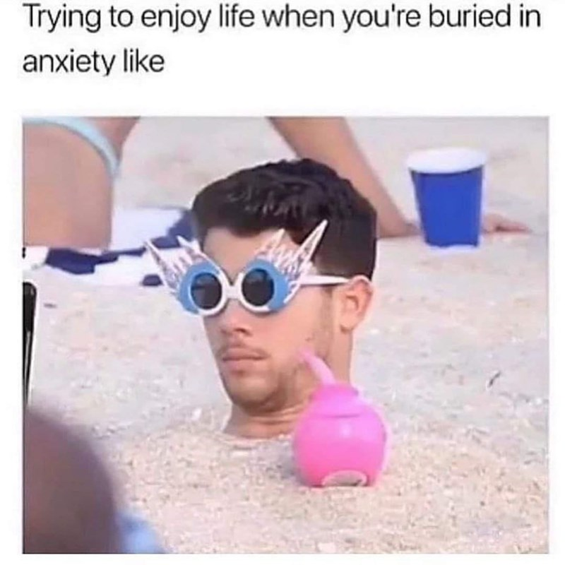 Glasses - Trying to enjoy life when you're buried in anxiety like