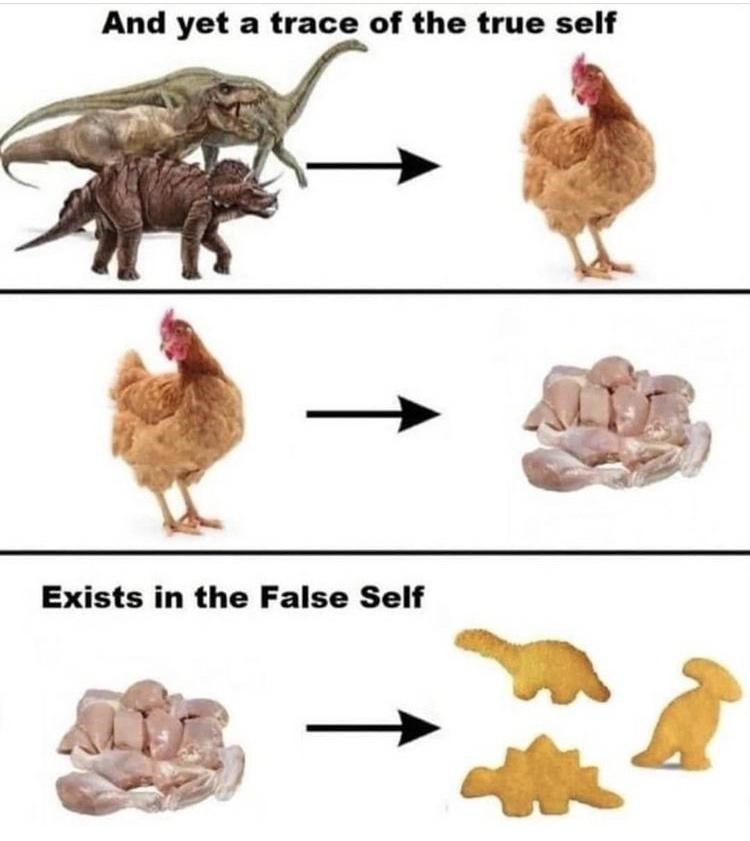 Vertebrate - And yet a trace of the true self Exists in the False Self