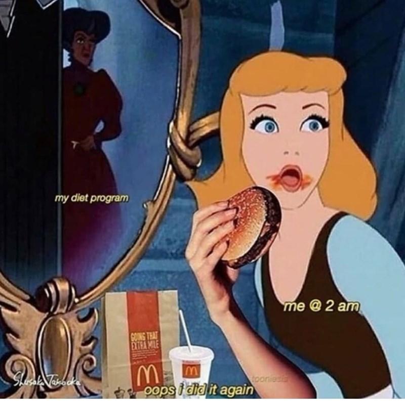 Tableware - my diet program me @ 2 am GOINS THAT EXTRA MILE toonies oops i did it again