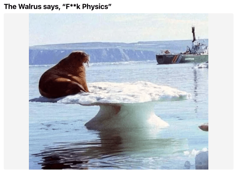 """Water - The Walrus says, """"F**k Physics"""""""