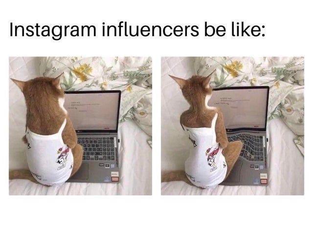 Shoe - Instagram influencers be like: