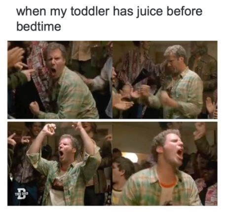Hairstyle - when my toddler has juice before bedtime