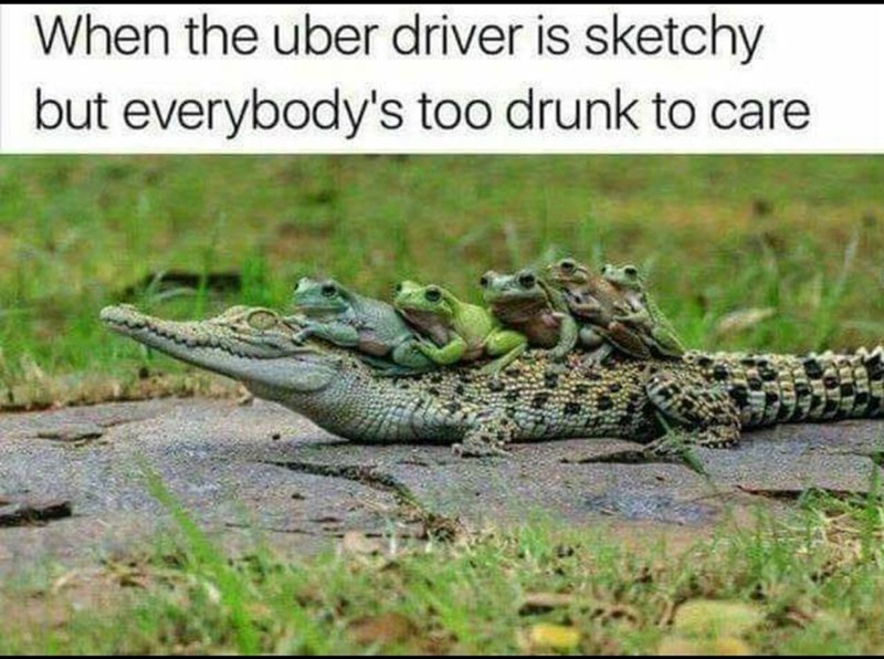 Photograph - When the uber driver is sketchy but everybody's too drunk to care
