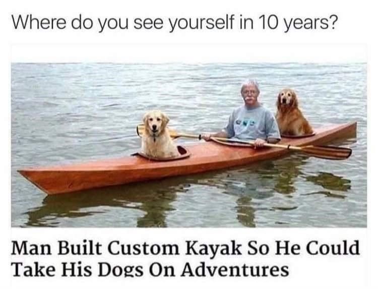 Water - Where do you see yourself in 10 years? Man Built Custom Kayak So He Could Take His Dogs On Adventures