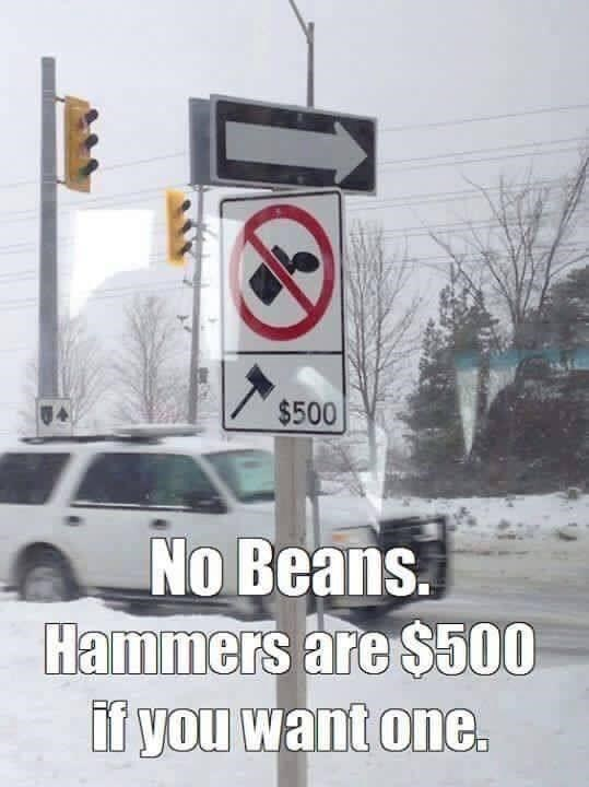 Motor vehicle - U4 $500 No Beans. Hammers are $500 if you want one.