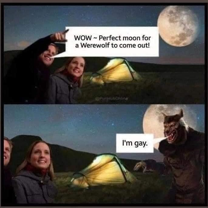Smile - WOW - Perfect moon for a Werewolf to come out! 6PuniHobüinine I'm gay.