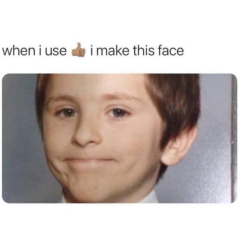 Nose - when i use i make this face
