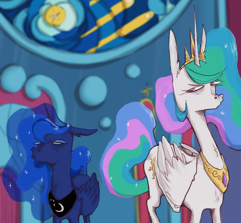 twilight's seven fake anna princess luna princess celestia - 9610212096