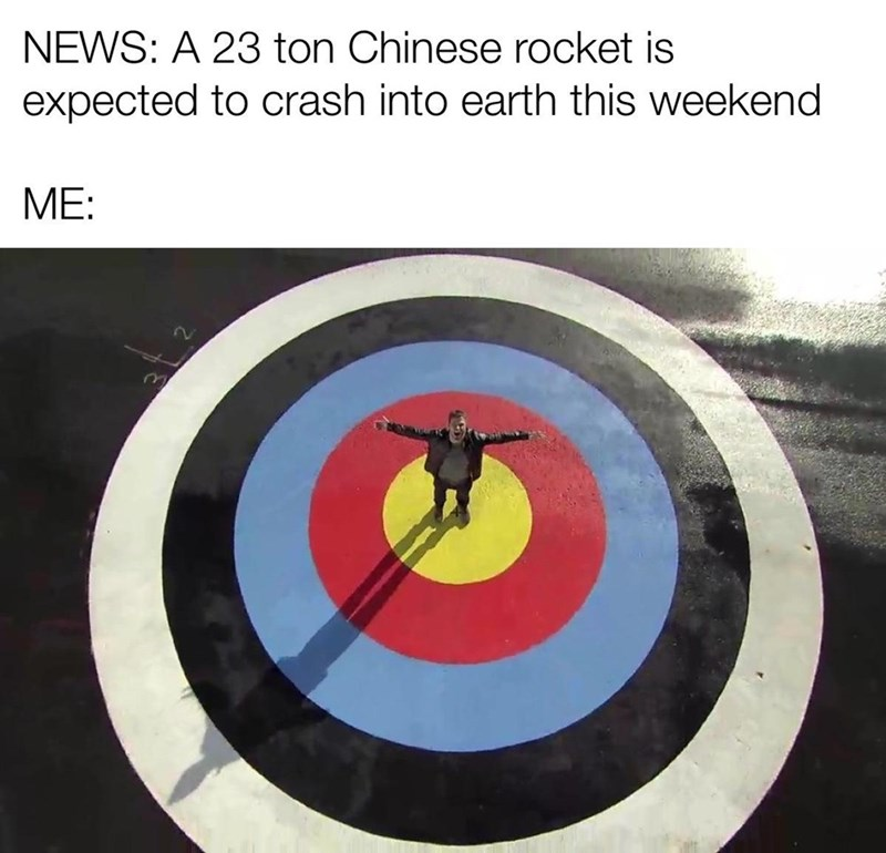 Font - NEWS: A 23 ton Chinese rocket is expected to crash into earth this weekend МE: