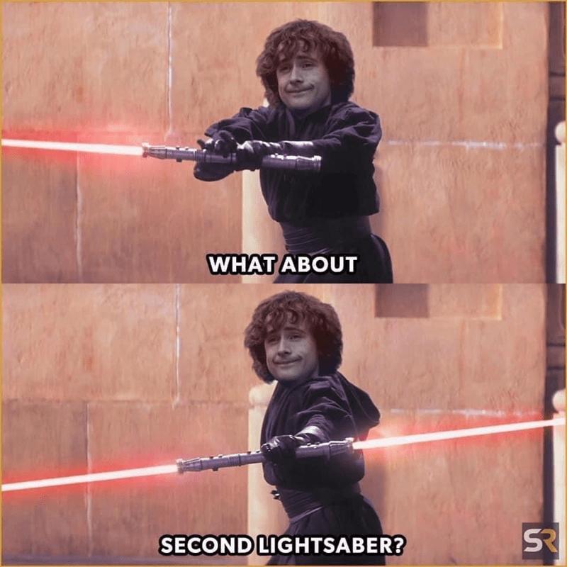 Shoulder - WHAT ABOUT SECOND LIGHTSABER?