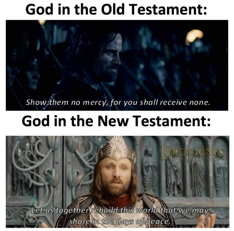 Photograph - God in the Old Testament: Show them no mercy, for you shall receive none. God in the New Testament: ORDERINGS SHIREPOSTING Let us together rebuild this world that we may share in the days of peace.