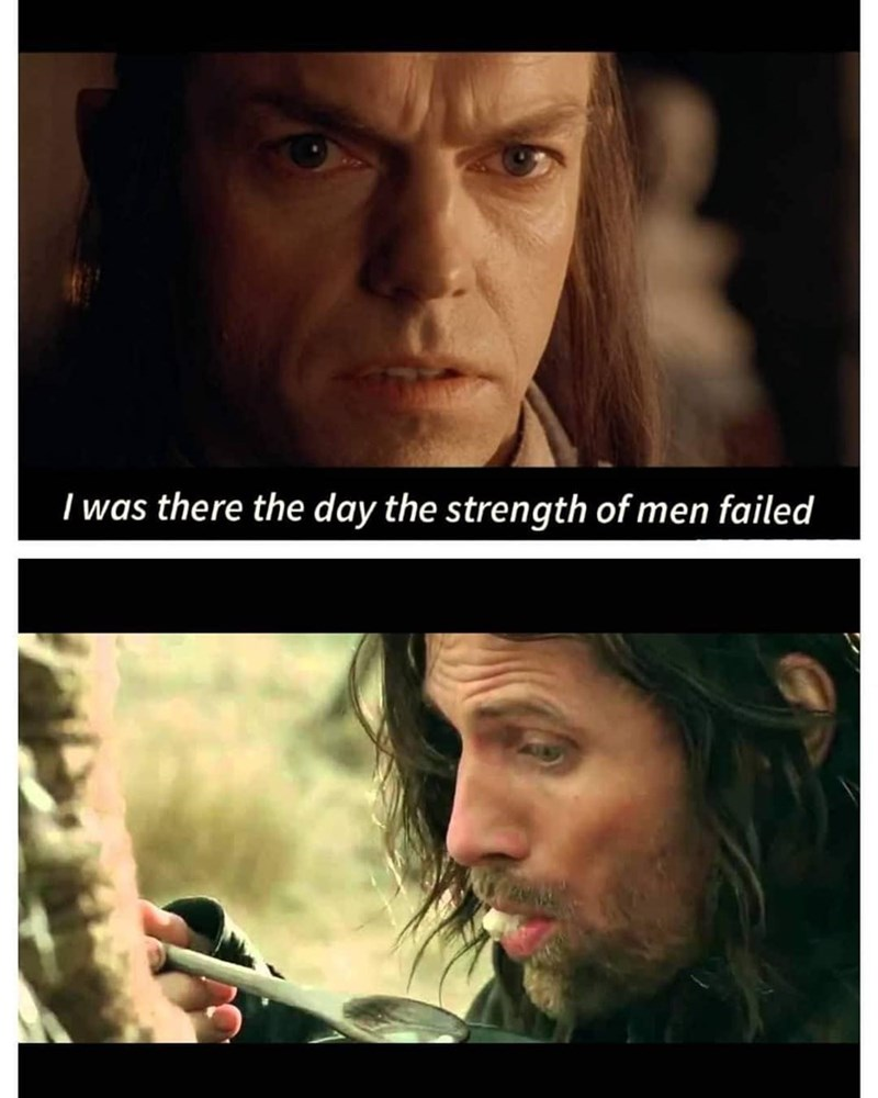 Forehead - I was there the day the strength of men failed