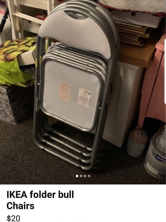 Home appliance - SNHOF IKEA folder bull Chairs $20