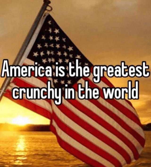 Water - * *** ***** America is the greatest crunchy in the world