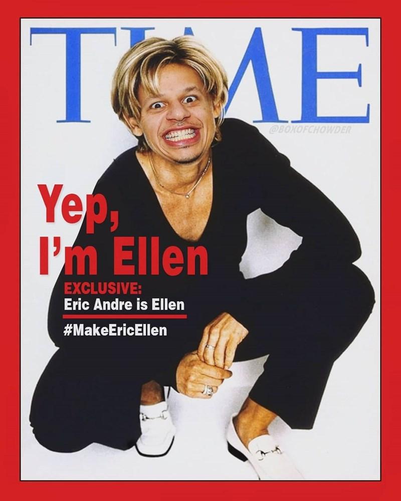 Smile - TME @BOKOFCHOWDER Yep I'm Ellen EXCLUSIVE: Eric Andre is Ellen #MakeEricEllen