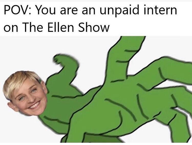 Hand - POV: You are an unpaid intern on The Ellen Show