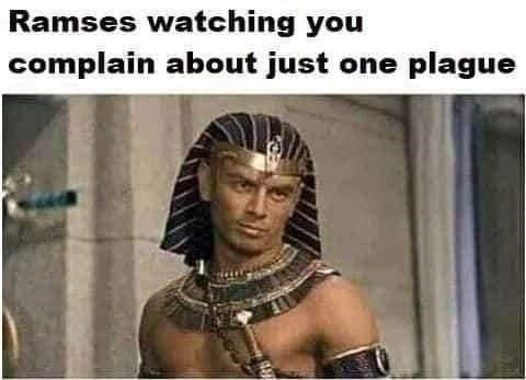 Human - Ramses watching you complain about just one plague