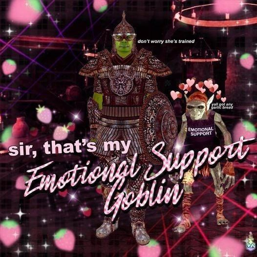 Light - don't worry she's trained yall got any garlic bread EMOTIONAL SUPPORT pert Emstiongl Sug Coblin sir, that's my