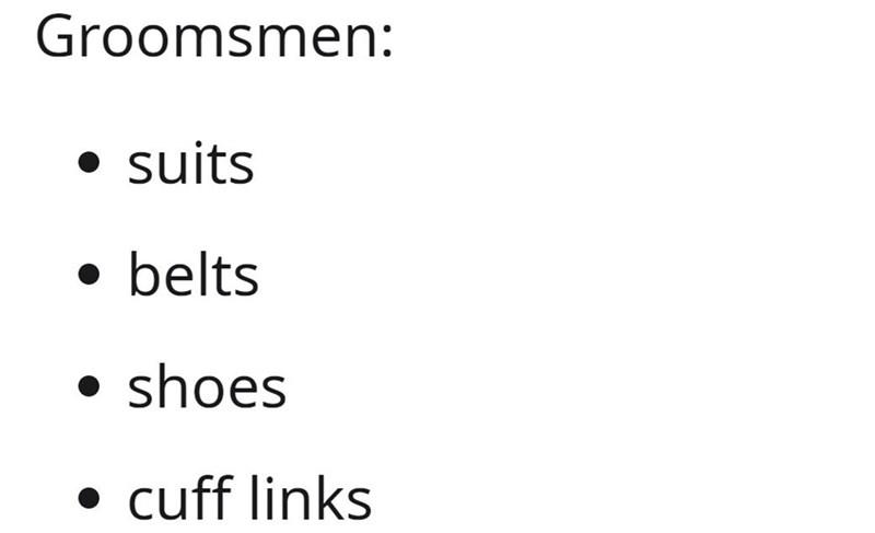 Font - Groomsmen: suits • belts shoes cuff links