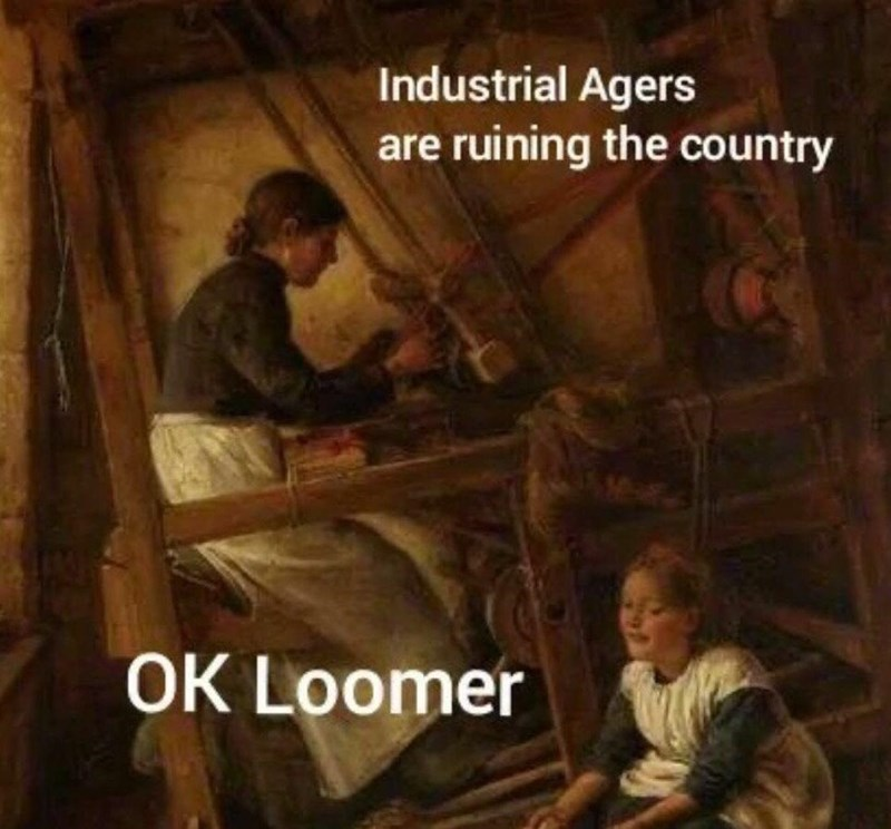Wood - Industrial Agers are ruining the country OK Loomer