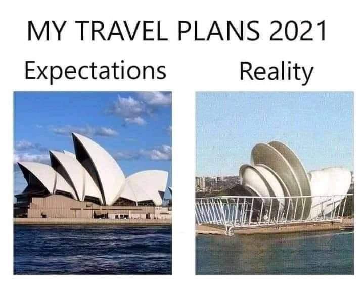 Water - MY TRAVEL PLANS 2021 Expectations Reality
