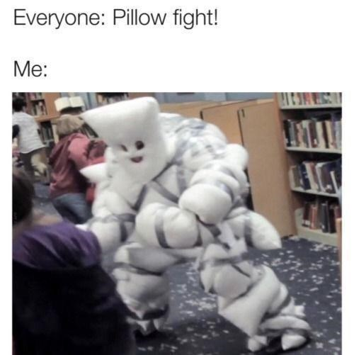 Organism - Everyone: Pillow fight! Me: