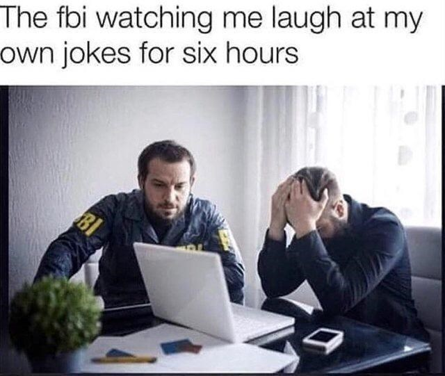 Computer - The fbi watching me laugh at my own jokes for six hours BI