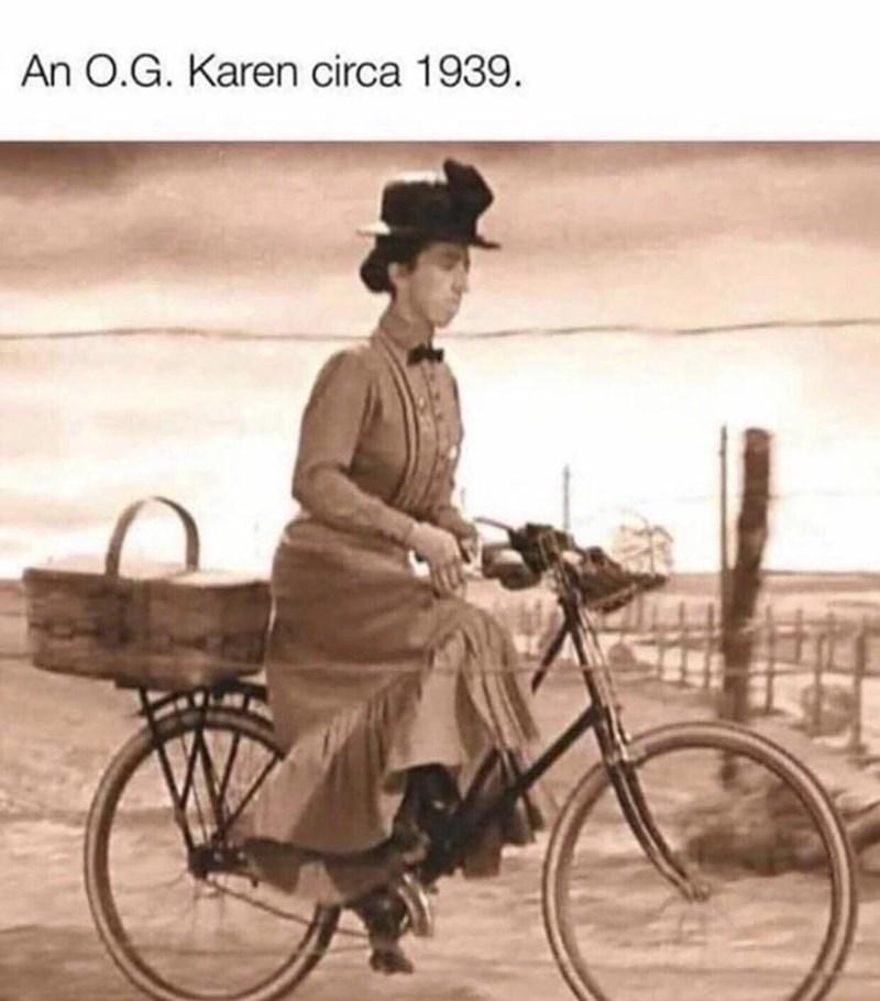 Bicycle - An O.G. Karen circa 1939.