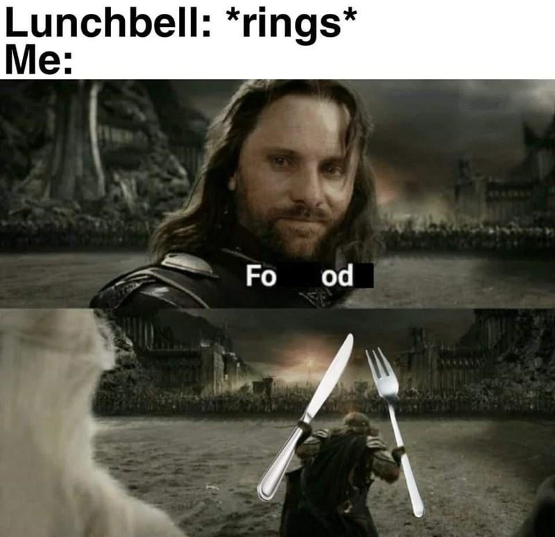 Light - Lunchbell: *rings* Me: Fo od