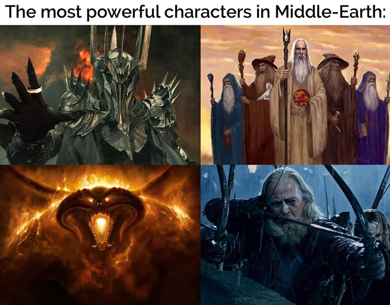 Cg artwork - The most powerful characters in Middle-Earth: