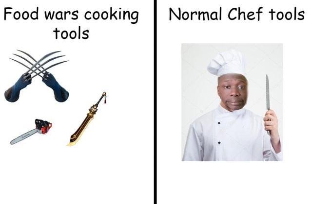 Sleeve - Food wars cooking Normal Chef tools tools