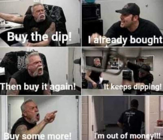 Clothing - Buy the dip! vatready bought Then buy it again! It keeps dipping! Buy some more! I'm out of money!!!