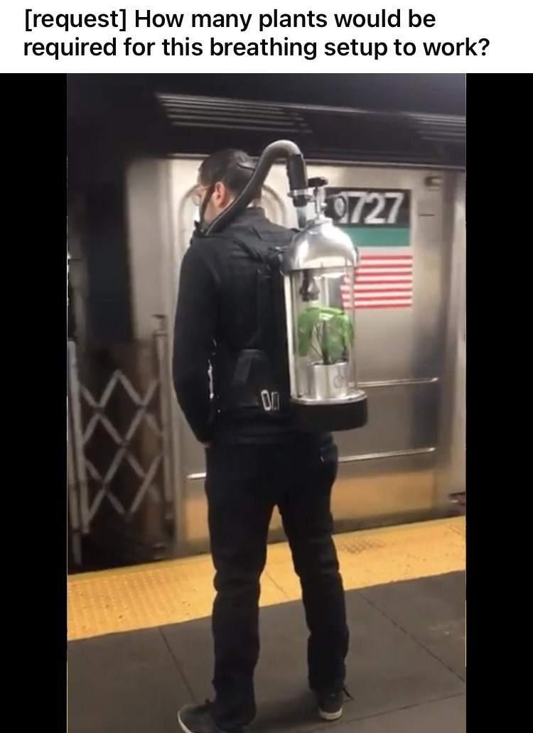 Outerwear - [request] How many plants would be required for this breathing setup to work? 9727