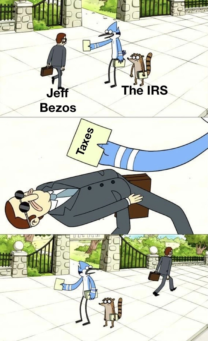 Gesture - Jeff The IRS Bezos Taxes