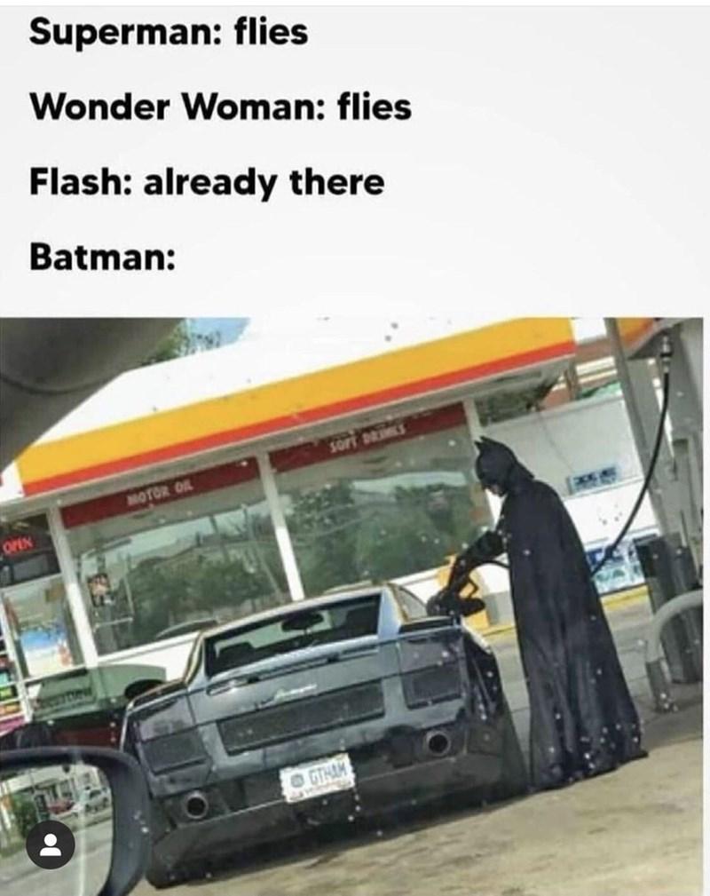 Automotive parking light - Superman: flies Wonder Woman: flies Flash: already there Batman: ORiS MOTOR OL OPEN GTHAM