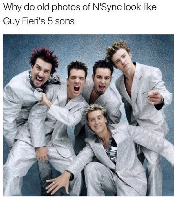 Smile - Why do old photos of N'Sync look like Guy Fieri's 5 sons