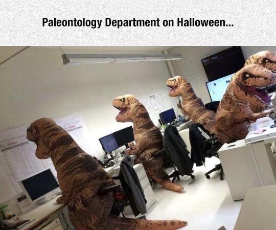 Art - Paleontology Department on Halloween...
