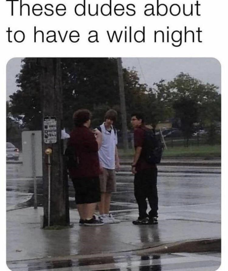 Shorts - These dudes about to have a wild night