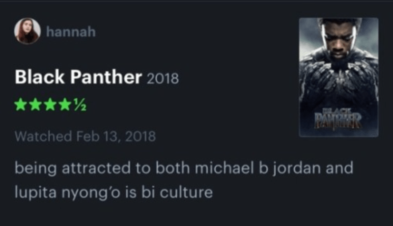 Font - hannah Black Panther 2018 ****½ Watched Feb 13, 2018 being attracted to both michael b jordan and lupita nyong'o is bi culture
