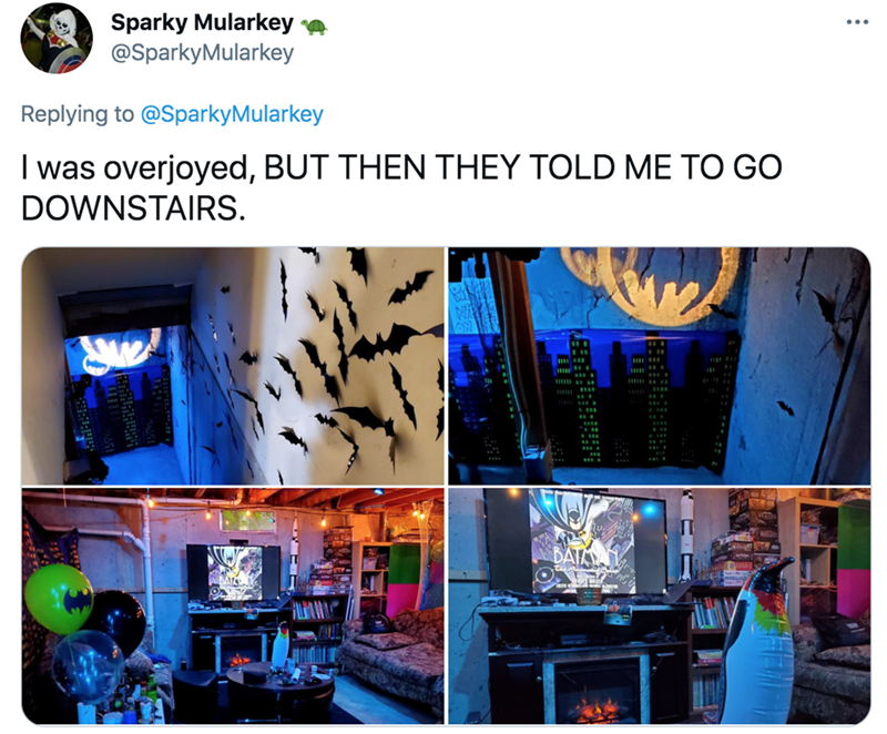 Product - Sparky Mularkey a @SparkyMularkey Replying to @SparkyMularkey I was overjoyed, BUT THEN THEY TOLD ME TO GO DOWNSTAIRS. BATA