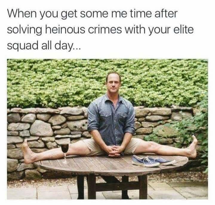 Plant - When you get some me time after solving heinous crimes with your elite squad all day...