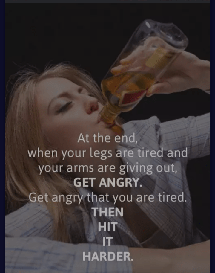 Product - At the end, when your legs are tired and your arms are giving out, GET ANGRY. Get angry that you are tired. THEN HIT IT HARDER.