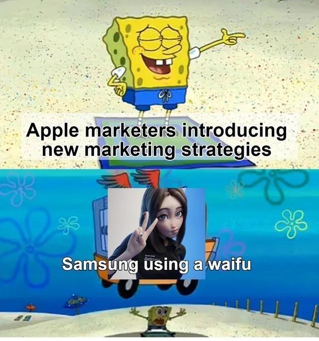 Product - Apple marketers introducing new marketing strategies Samsung using a waifu Golax